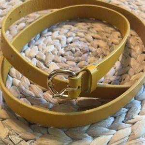 NWOT J. Crew yellow leather belt